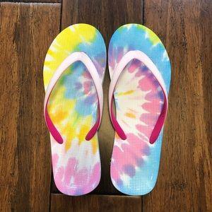 Pastel Tie Dye Flip Flops